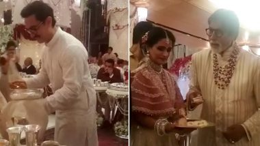 Isha Ambani-Anand Piramal Wedding: Aamir Khan, Amitabh Bachchan Serve Food to Guests; Watch Adorable Video